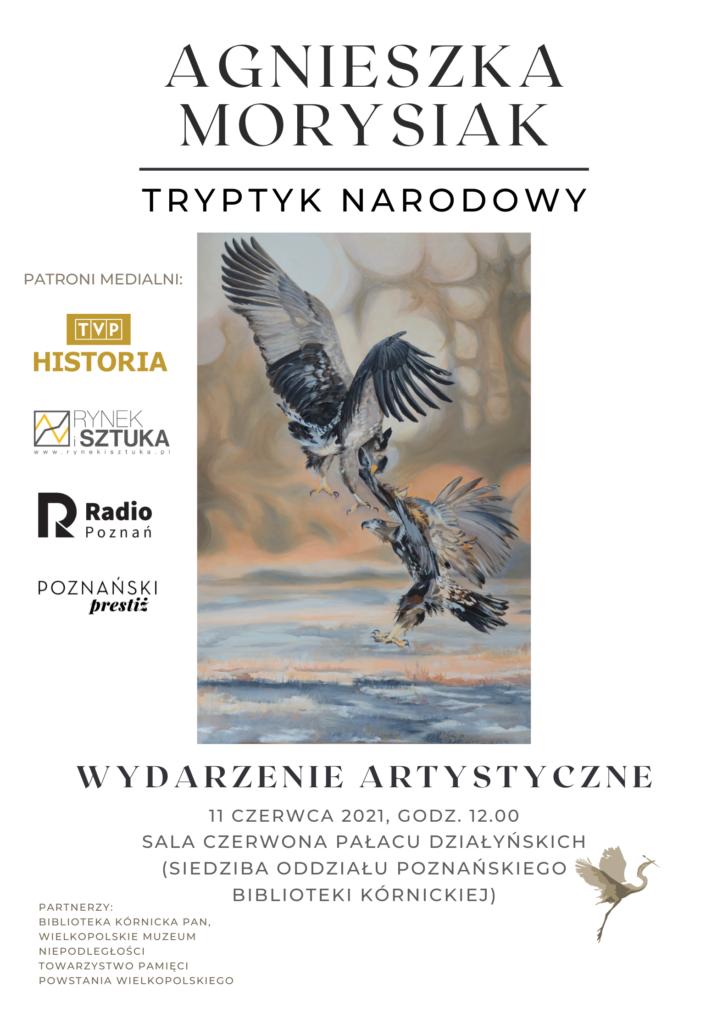 Plakat wydarzenia artystycznego Tryptyk Narodowy